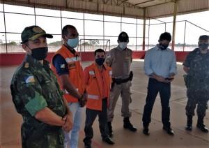 Representantes dos órgãos na abertura dos trabalhos da Operação Integrada de Fiscalização em Talismã