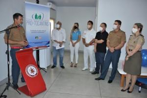 Comandante geral do CBMTO, coronel Leandro, destacou a importância da clínica para os servidores militares