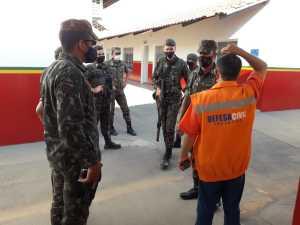 Exército se reuniu com a Defesa Civil na cidade de  Talismã
