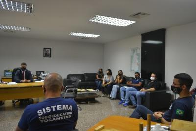 Coordenadores de unidades socioeducativas participaram do momento de diálogo apresentando demandas e sugestões de melhorias