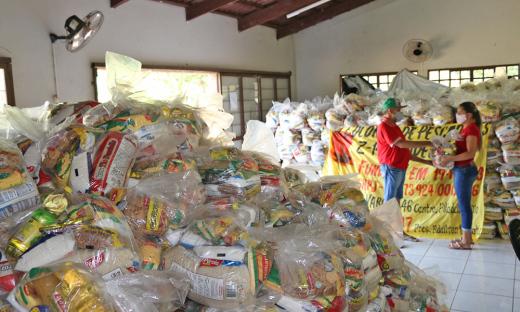Durante a pandemia, foram entregues pelo Governo do Tocantins 6 mil toneladas de alimentos