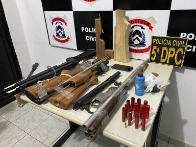 Polícia Civil apreende várias armas e munições em residência na região sul de Palmas