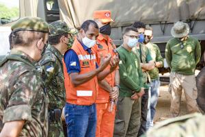 Autoridades militares e de fiscalização se reúnem para início das ações em Lajeado