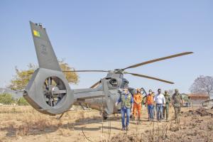 Operação Integrada usa helicóptero do Exército Brasileiro nas ações de monitoramento dos incêndios florestais no Tocantins