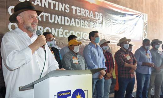 Mais um vez, Mauro Carlesse destacou a importância do agronegócio no contexto econômico do Tocantins