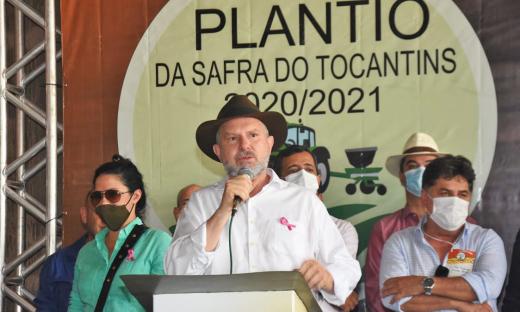 Governador Mauro Carlesse lança plantio da safra 2020/2021 e anuncia desburocratização no processo de licenciamento ambiental