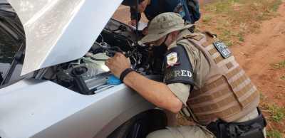 Sargento Murussi durante instrução prática