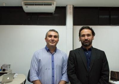 Afrânio Vilar presidente da Associação dos Servidores de Tecnologia da Informação e Comunicação no Estado do Tocantins (Astic/TO) e Thiago Maciel presidente da ATI-TO.