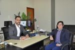 Secretário da Administração, Bruno Barreto, em reunião com o presidente do CRA-TO o administrador, Francisco Costa.