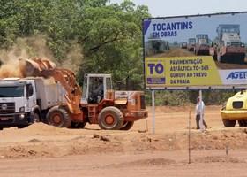 Pavimentação da BR-153 em Gurupi até o Trevo da Praia foi um compromisso de campanha do governador Mauro Carlesse - Washington Luiz/Governo do Tocantins