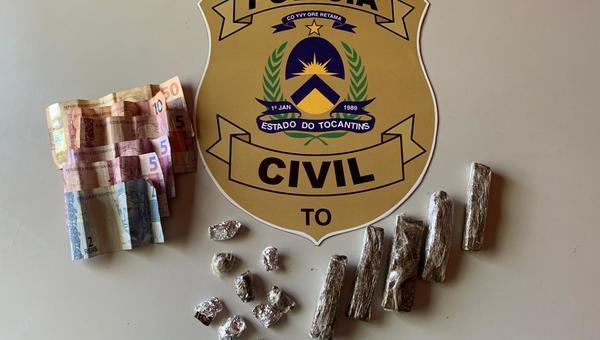 Drogas e dinheiro oriundos do tráfico de entorpecentes são apreendidos em Caseara