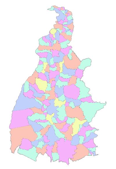 A escala utilizada mostra com precisão as divisas dos municípios