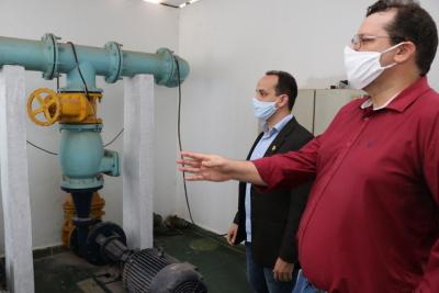 Presidente acompanhou a inspeção na Estação de Tratamento de Água (ETA)