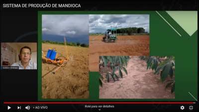 Gustavo campos da Embrapa foi primeiro palestrante sobre sistema de produção de mandioca