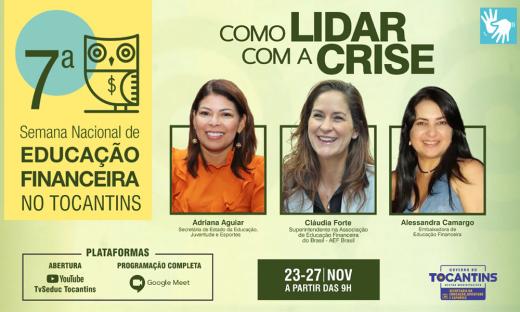 A abertura oficial será na segunda-feira, 23, às 9 horas, no canal do YouTube da Pasta, TV Seduc Tocantins