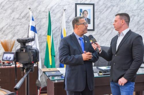 Tom Lyra fala sobre desenvolvimento econômico do Tocantins ao programa Rodrigo Blamires