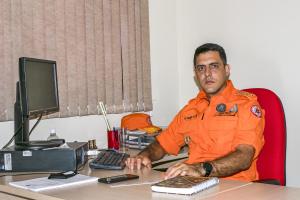 Tenente-coronel Thiago Franco, diretor de Serviços Técnicos do CBMTO