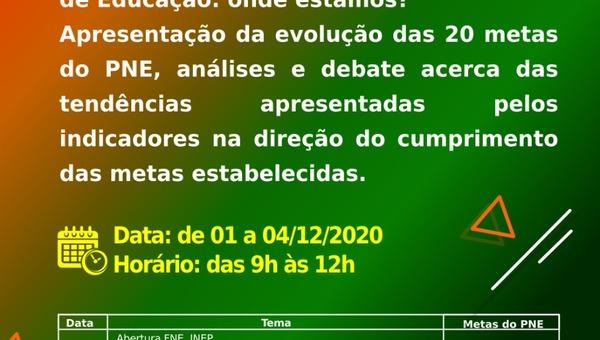 Webinário acontecerá no período de 01 a 04 de dezembro de 2020 no YOU TUBE - TV UNCME.