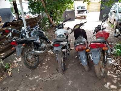 Venda ilegal de motos em estado de sucata é identificada pelo Detran