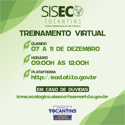 O SISECO é utilizado na integração dos índices do ICMS Ecológico
