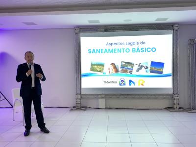 Presidente Edson Cabral, deu início à primeira palestra do 1º Encontro Estadual de Saneamento Ambiental