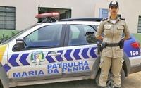 Capitão da PM, Flávia Roberta Pereira de Oliveira, comandante da Patrulha Maria da Penha no Tocantins.