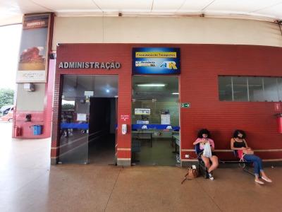 Ponto de atendimento da ATR no terminal rodoviário de Palmas