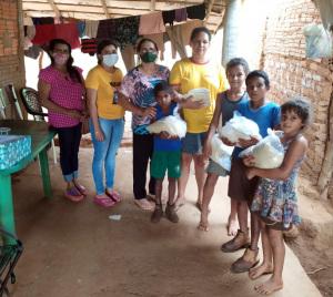 Cerca de 1.000 famílias foram contempladas com os alimentos