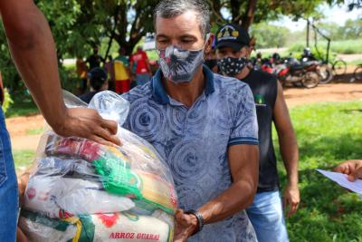 No mês de dezembro, mais de 55 mil famílias já foram atendidas com a entrega de cestas básicas. Alexandre Alves / Governo do Tocantins