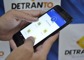 Aplicativo Carteira Digital de Trânsito onde o usuário tem acesso aos documentos digitais.