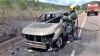 Bombeiros militares atenderam ocorrência nas proximidades de Paraíso, onde veículo estava em chamas