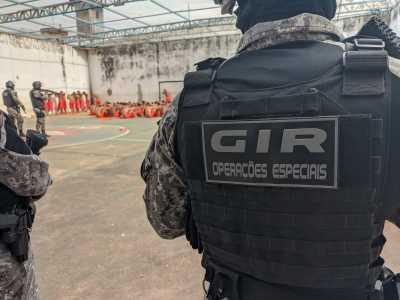 O Grupo de Intervenção Rápida (GIR) participou da Operação Presença nas unidade penais