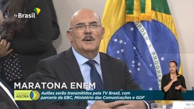 O ministro da Educação, Milton Ribeiro destacou a importância dos aulões para a participação dos estudantes no Enem