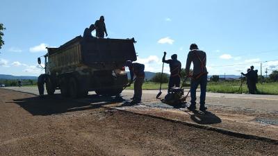 Na TO-030, trabalhos facilitarão escoamento da produção