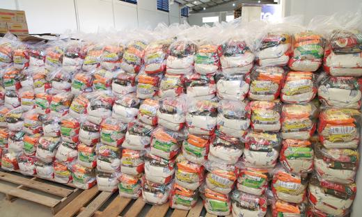 Desde março de 2020, já foram entregues aproximadamente 660 mil cestas básicas por todo o Estado