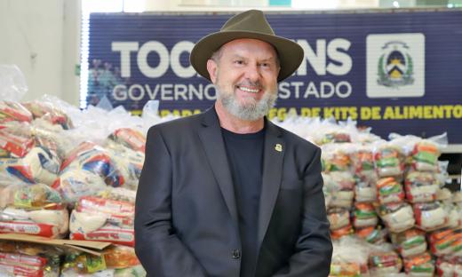 Governador Mauro Carlesse assegura continuidade de entrega de cestas básicas para famílias afetadas pela pandemia da Covid-19