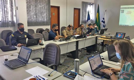 Gabinete esteve conectado ao Sistema Córtex, do Ministério da Justiça, responsável por reunir e acompanhar em tempo real as informações e possíveis ocorrências