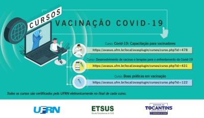 Cursos sobre vacinação para a COVID-19
