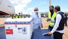 Novo lote com 11.500 doses de vacinas contra a Covid-19 foi recebido neste domingo, 24