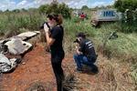 Equipe do IML de imediato compareceu ao local do acidente e iniciou os procedimentos para realizar a identificação dos corpos carbonizados