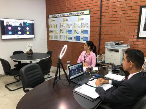 Superintendente de Desenvolvimento Econômico da Sics, Iranilson Mota, acompanha reunião do Comitê Gestor Estadual do PNCE