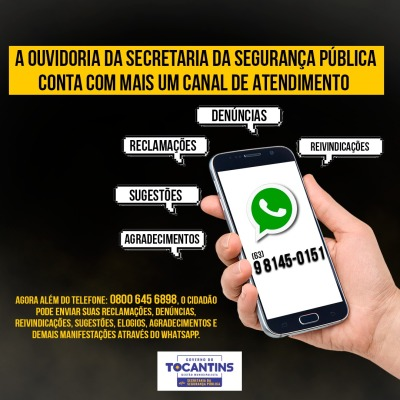 Ouvidoria da Secretaria da Segurança Pública amplia canal de atendimento à população