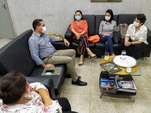 Reunião entre as equipes gestoras da Adetuc e da Semarh