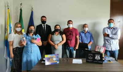 Gestores da Seciju estiveram no município de Novo Acordo para apresentarem os avanços do Programa Novo Tempo e firmar parceria com a prefeitura