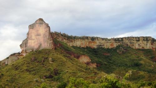 Serra da Catedral localizada entre as cidades de São Félix e Novo Acordo
