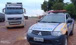 Veículo recuperado pela PM durante a ação
