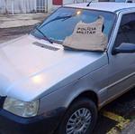 Veículo usado como apoio no assalto