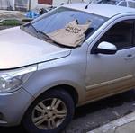 Veículo utilizado pelos criminosos para praticar o assalto