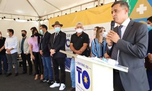 O presidente do Naturatins, Renato Jayme, apresentou o novo sistema de gerenciamento ambiental do Naturatins durante solenidade de inauguração
