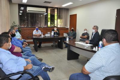 Reunião com representantes do transporte intermunicipal, Presidente da ATR e gerentes do setor de regulação, fiscalização e contencioso